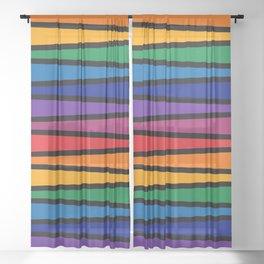 Spectrum Game Board Sheer Curtain