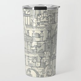 Ancient Greece indigo pearl Travel Mug