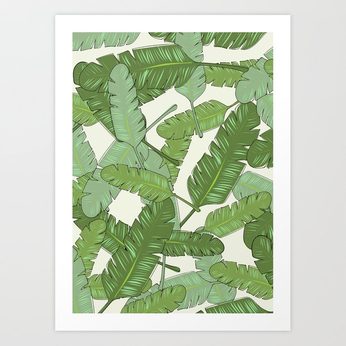 Banana Leaf Print Art Print