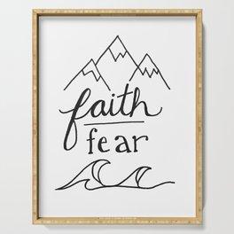 Faith Over Fear Serving Tray