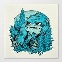 yeti Canvas Prints featuring Yeti by Shelley Barnes