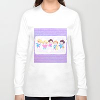 shinee Long Sleeve T-shirts featuring SHINee Sleepover by sophillustration