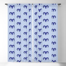 Astrological sign aries constellation Blackout Curtain