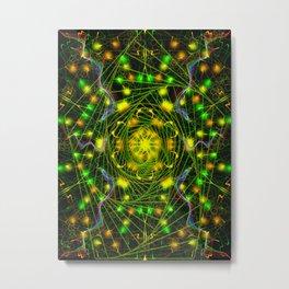 Black Scratch Mandala 5 Metal Print