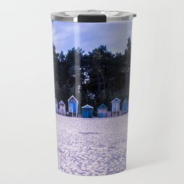 Norfolk Beach Huts Travel Mug
