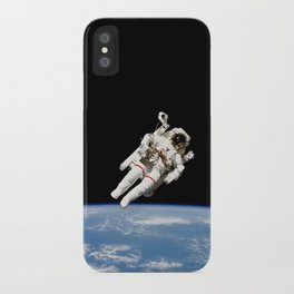 Astronaut Floating Free iPhone Case