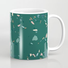 Terrazzo Texture on Pine Green Coffee Mug