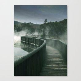 Steamy Path Canvas Print