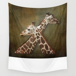 Giraffes Passing in the Night Wall Tapestry
