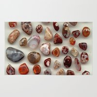 agate Area & Throw Rugs featuring agate,gemstone by ira gora