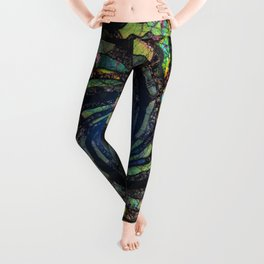 Fantasy color spiral Leggings
