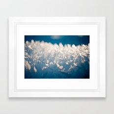 Mountain Snow Macro Framed Art Print