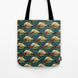 Piranha Army Hand painted Pattern Tote Bag