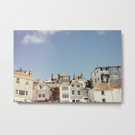 St. Ives house with tilt and shift view. Metal Print