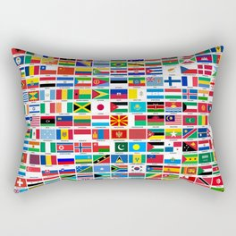 Flags Of The World Rectangular Pillow