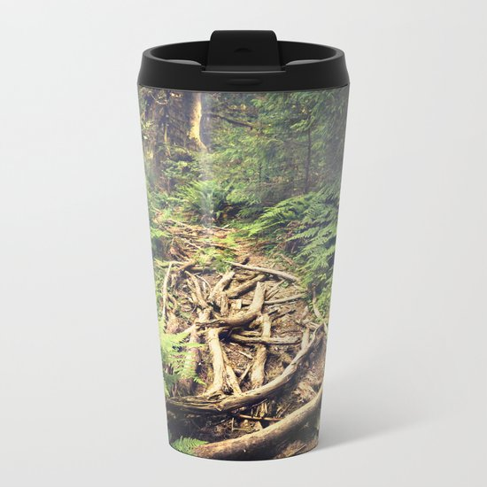 Misty Rainforest Metal Travel Mug