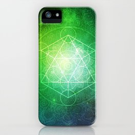 Abstract Deep Space Portal Blue-Green iPhone Case