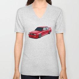 Red drift car Unisex V-Neck