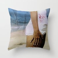 marylin monroe Throw Pillows featuring Marylin 2 by j.levent