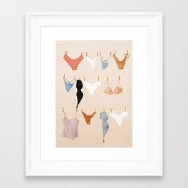 Underware Framed Art Print