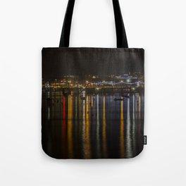 Prince of Wales Pier at Night Tote Bag