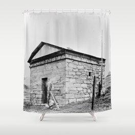 Jail, Hornitos, Mariposa County, CA 1934 Shower Curtain