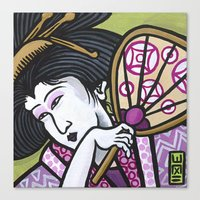 eric fan Canvas Prints featuring Fan by Eric Carlstrom