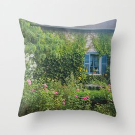 Monet's Gardens Giverny France Throw Pillow