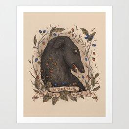 Beware, the Black Shuck Art Print