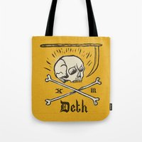 number Tote Bags featuring Lucky Number by Landon Sheely