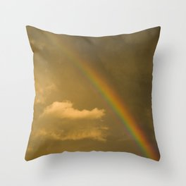 somewhere, over the rainbow... Throw Pillow