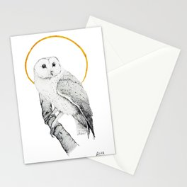 The barn-owl Stationery Cards