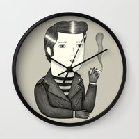 elvis Wall Clocks featuring Elvis by Ana Albero