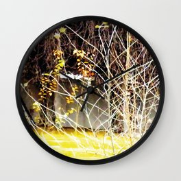 Nature finds the way inside... and outside... Everywhere! Wall Clock