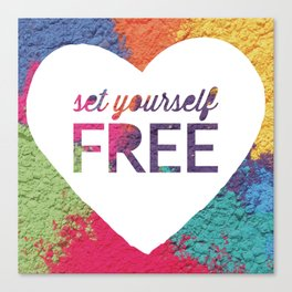 Set Yourself Free Quote Canvas Print