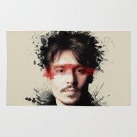 johnny depp Area & Throw Rugs featuring Johnny Depp by Brigitta
