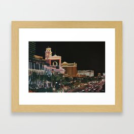 Las Vegas Strip Oil On Canvas Framed Art Print