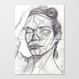 Donna Enigmatica #5; Vivien Solari #1 - Artist: Leon 47 ( Leon XLVII ) Canvas Print