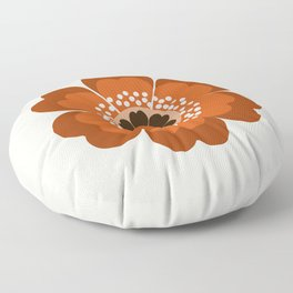 Coolie - retro flower 70s vibes minimalist floral 1970's colorful decor Floor Pillow