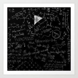 Math Cheat Sheet Art Print