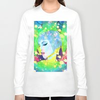 hayley williams Long Sleeve T-shirts featuring Digital Painting - Hayley Williams - Variation 2 by EmmaNixon92