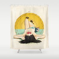 oklahoma Shower Curtains featuring Miss Oklahoma by keith p. rein