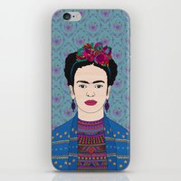 frida kahlo iPhone & iPod Skins featuring Frida Kahlo by Bianca Green