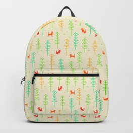 Foxes hiding in the forest Backpack