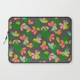 Henri's Garden in gray // tropical flora pattern Laptop Sleeve