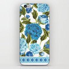 in Blue iPhone & iPod Skin