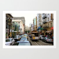San Francisco Street in Color Art Print