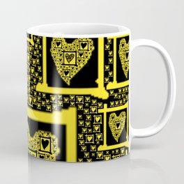 Yellow Toxic Hearts Coffee Mug