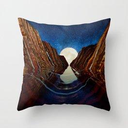 Moon Reflection Throw Pillow