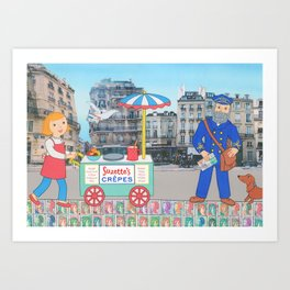 Suzette's Postman Art Print